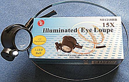 Lighted 15X Eyeloupe With Headband