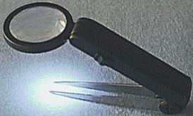 LED Illuminated Tweezer With Magnifier