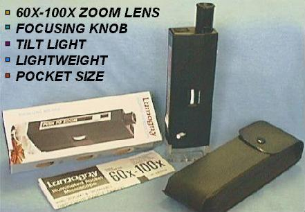 Lighted 60X-100X Microscope