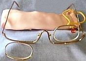 Makeup Glasses, Right Lens Down