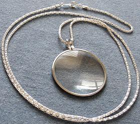 Necklace Magnifier, Silver Tone